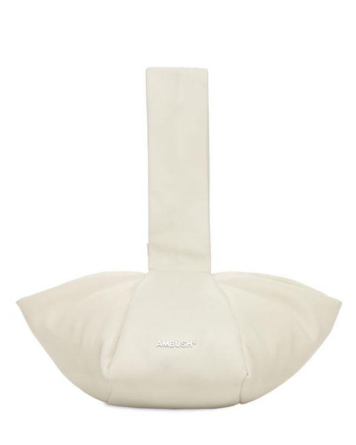 Ambush White Falt-handtasche