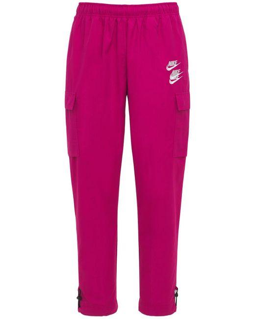メンズ Nike World Tour ウーヴンカーゴパンツ Pink