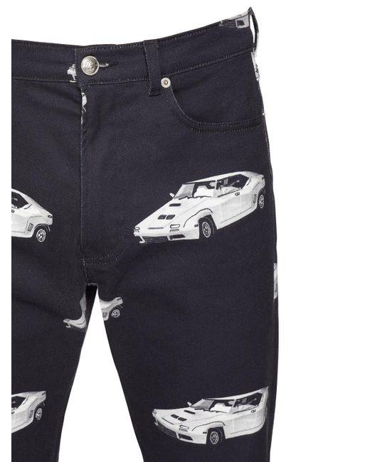 メンズ Versace コットンデニムジーンズ 18cm Blue