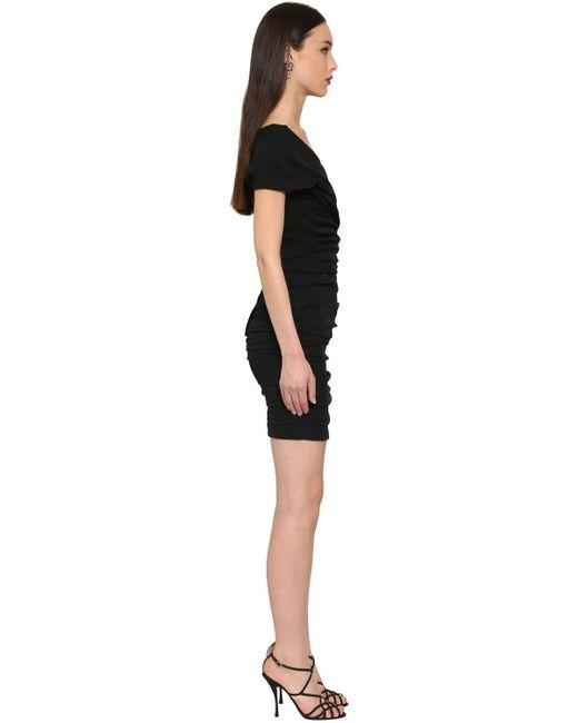 Платье Стрейч Из Шелка Dolce & Gabbana, цвет: Black