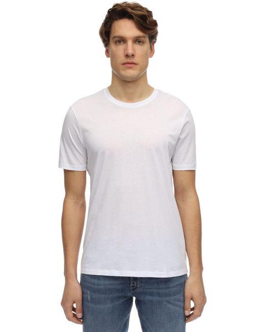 メンズ Armani Exchange コットンジャージーtシャツ White