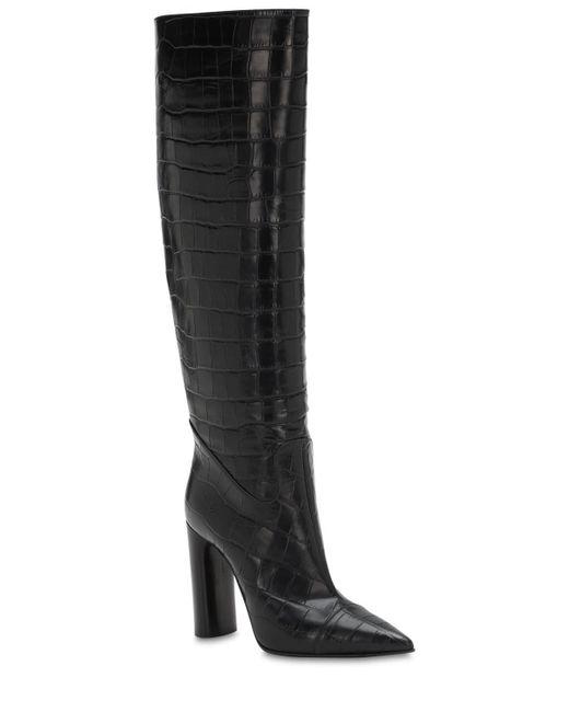 Кожаные Сапоги Donna 100мм Casadei, цвет: Black