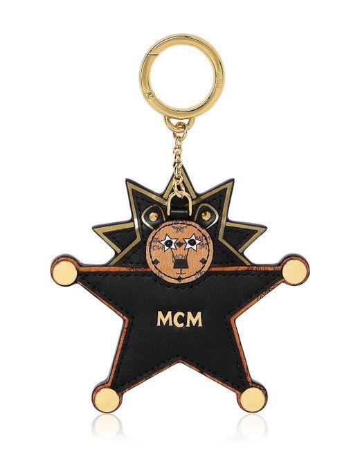 MCM Star Lion ミラーバッグチャーム Black