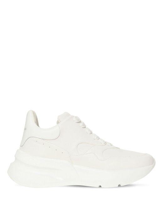 Кожаные Кроссовки 50мм Alexander McQueen, цвет: White