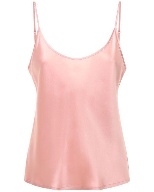 La Perla シルクサテントップ Pink