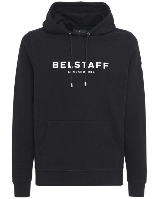 メンズ Belstaff コットンスウェットフーディ Black