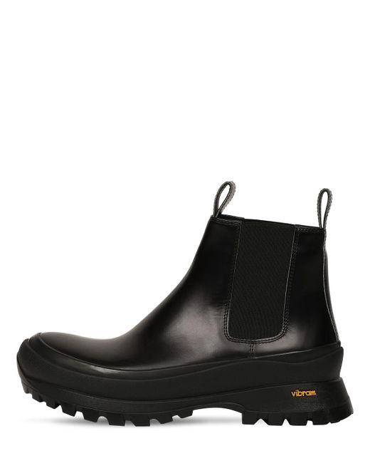 Кожаные Ботинки Челси Jil Sander для него, цвет: Black