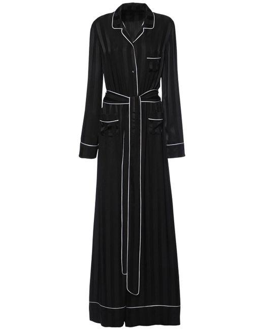 Dolce & Gabbana ジャカードシルクサテンジャンプスーツ Black