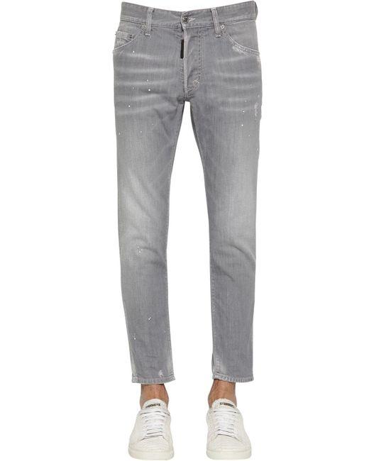 メンズ DSquared² Skinny Dan コットンデニムジーンズ 15cm Gray