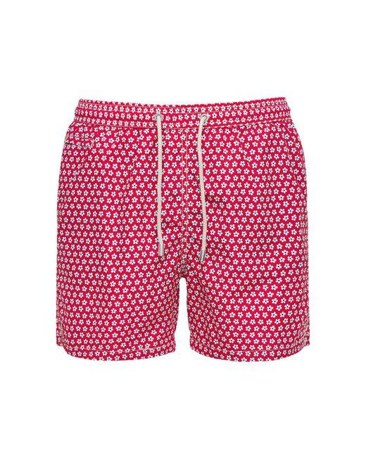 Плавательные Шорты С Принтом Mc2 Saint Barth для него, цвет: Red