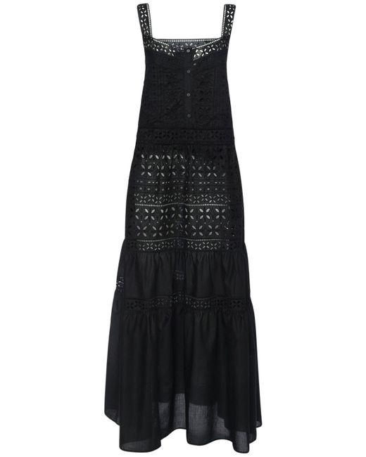 Ermanno Scervino コットンアイレットドレス Black