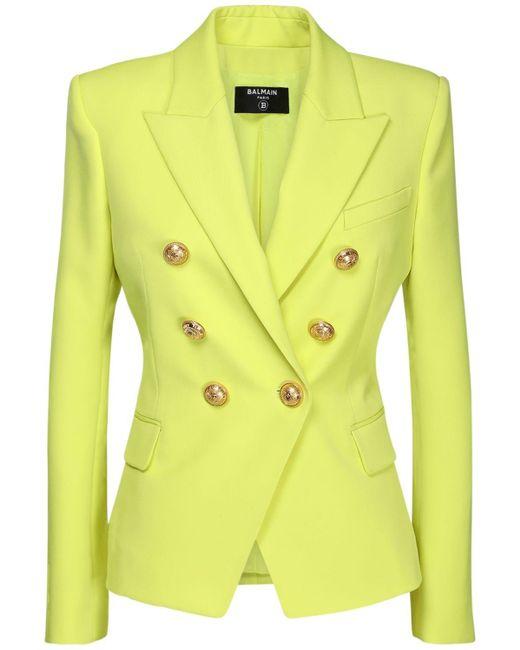 Пиджак Из Шерсти Balmain, цвет: Yellow