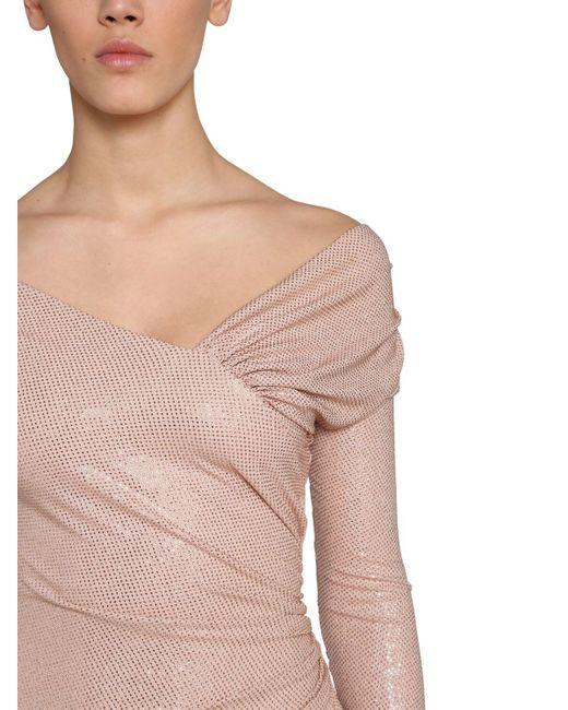 Alexandre Vauthier ジャージー オフショルダーミニドレス Pink