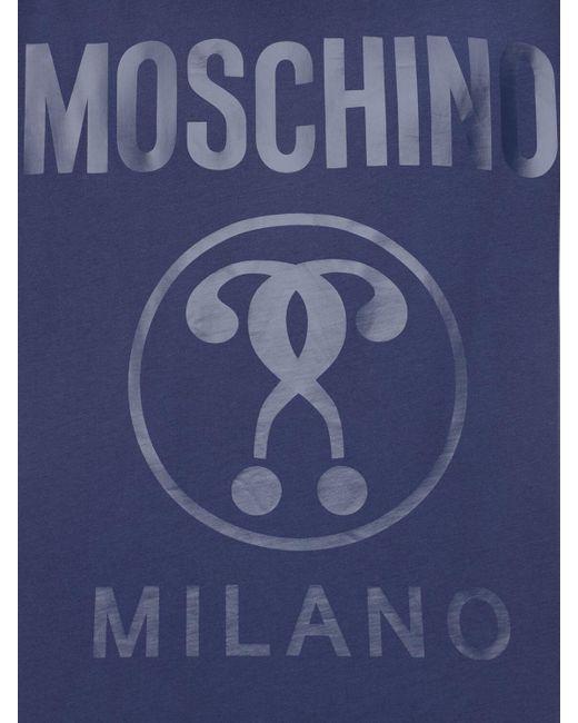 メンズ Moschino コットンジャージーtシャツ Blue