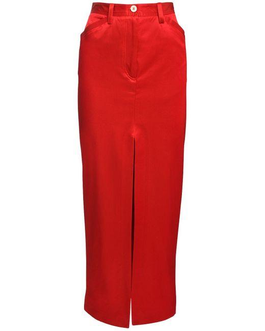 Sunnei コットンブレンドツイルスカート Red