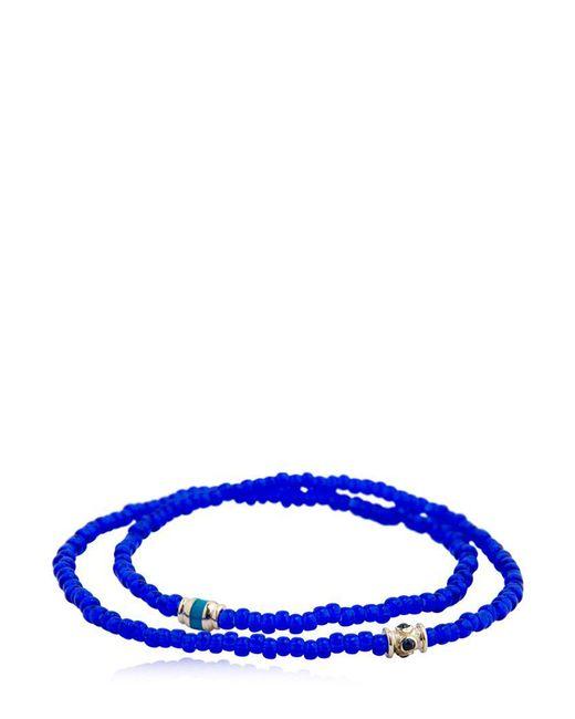 Luis Morais | Blue Sapphire Barrel Double Wrap Bracelet | Lyst