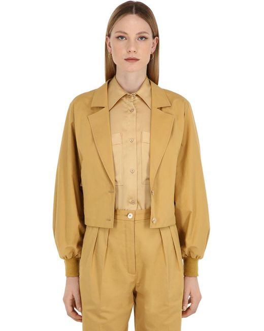 Nina Ricci Natural Cotton Gabardine Jacket