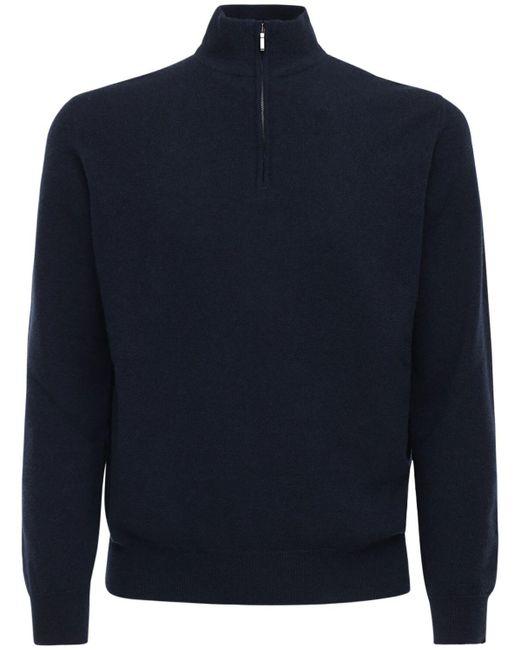 メンズ Loro Piana Classic カシミアジップセーター Blue