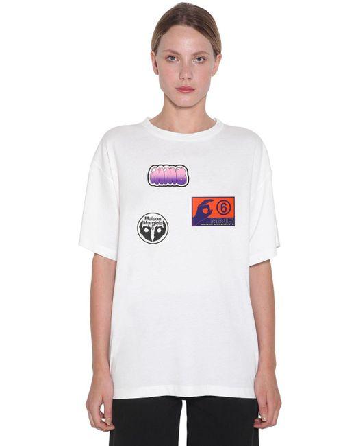 MM6 by Maison Martin Margiela コットンジャージーtシャツ White