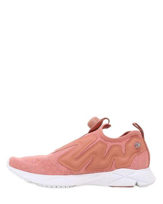 Reebok Pink Pump Supreme Guerrilla Sneakers for men
