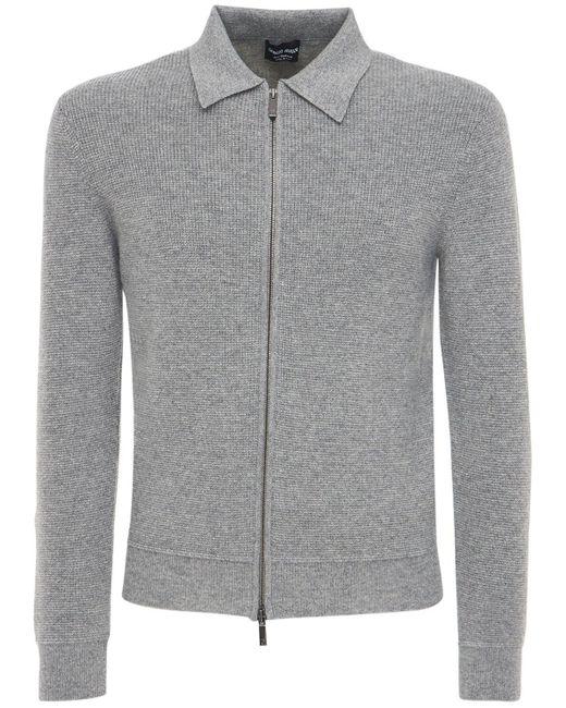 Куртка Из Кашемира Giorgio Armani для него, цвет: Gray