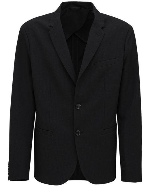 メンズ Armani Exchange ストレッチナイロンナイロンブレンドジャケット Black