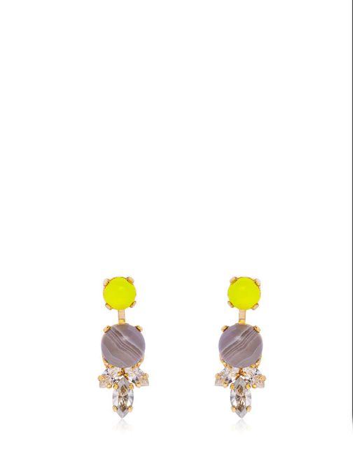 Anton Heunis - Yellow Color Block Stud Earrings - Lyst