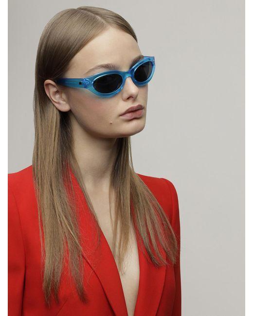 Le Specs Body Bumpin ネオン ラウンドサングラス Blue