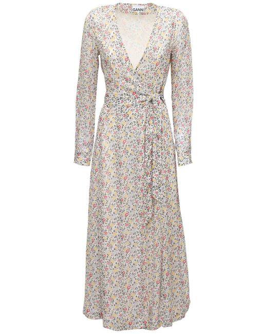 Ganni ジョーゼットラップドレス White