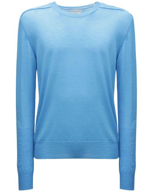 メンズ Bottega Veneta スーパーファインカシミアニットセーター Blue