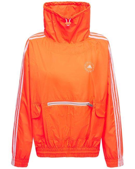 Stella McCartney オーバーサイズテックナイロンスウェットシャツ Orange