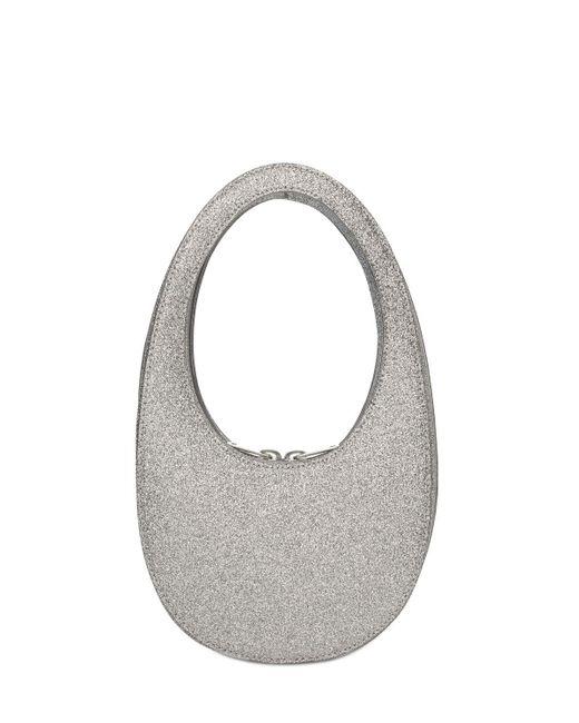 Coperni Mini Glitter Swipe レザーバッグ Metallic
