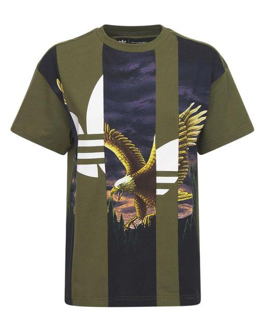 Adidas Originals Graphic コットンtシャツ Green