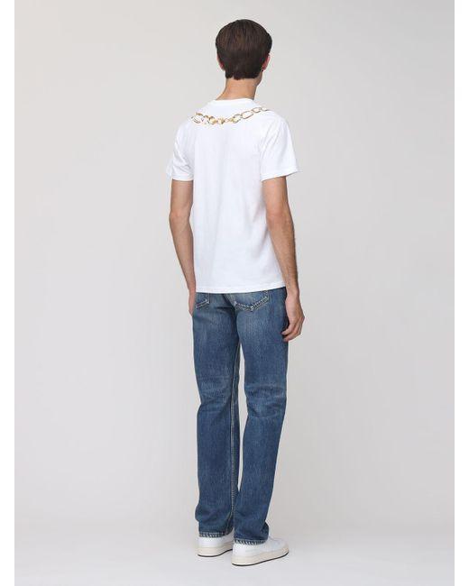 メンズ Moschino Chain コットンtシャツ White