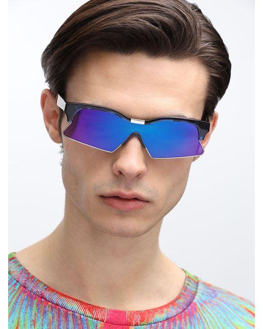 メンズ Marcelo Burlon アセテートサングラス Blue