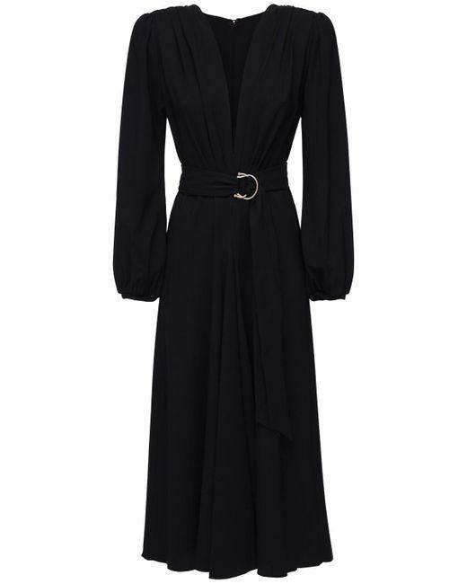 Maria Lucia Hohan Rury ラップクレープドレス Black