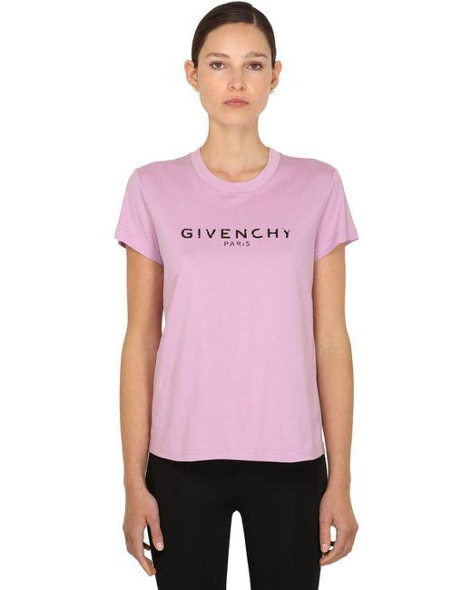 Givenchy コットンジャージーtシャツ Purple