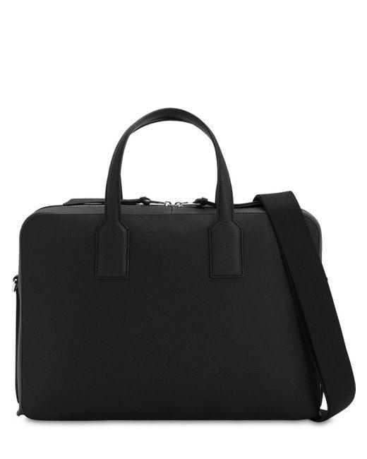 メンズ Loewe Goya Thin レザーブリーフケース Black