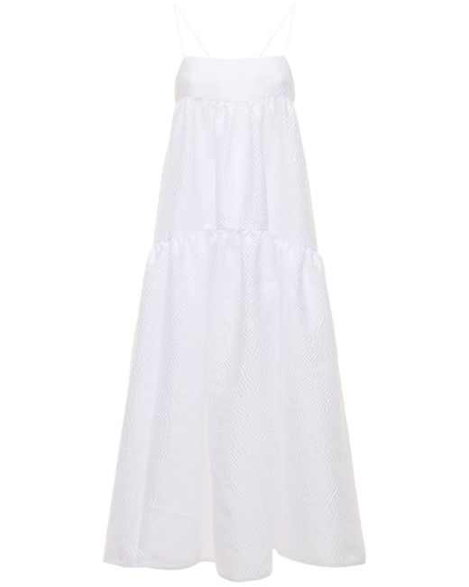 CECILIE BAHNSEN Hillary シアサッカードレス White