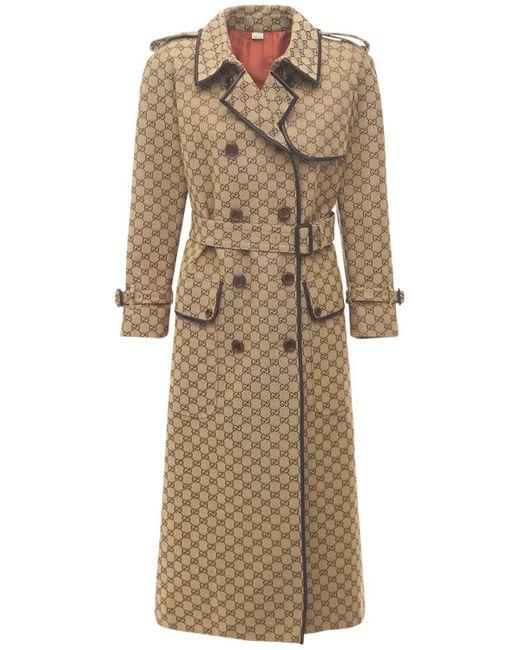 Gucci ベルテッドコットンキャンバスコート Multicolor