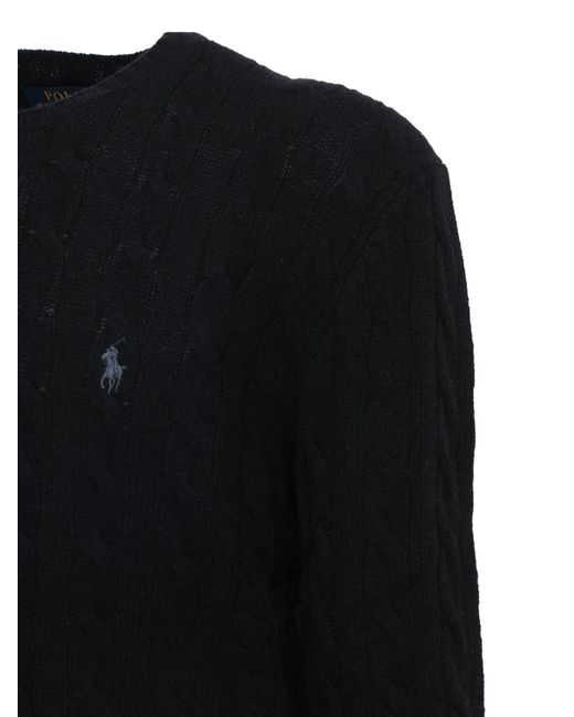 メンズ Polo Ralph Lauren ウール&カシミアニットセーター Black