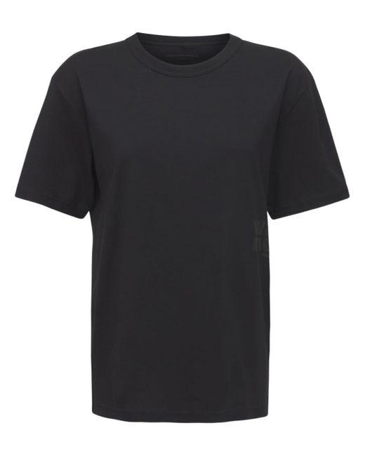 Alexander Wang Foundation コットンジャージーtシャツ Black