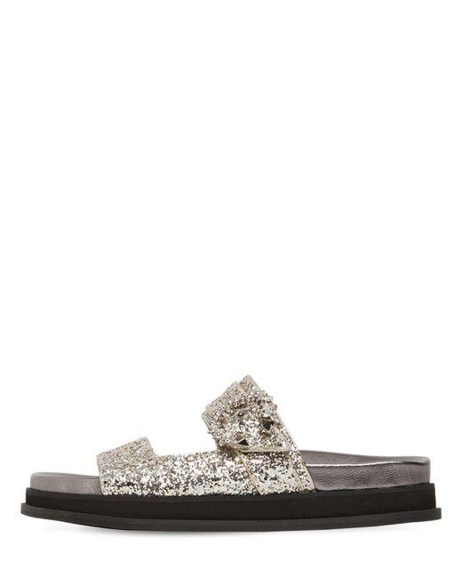 Jimmy Choo Metallic 20mm Marga Glittered Sandals