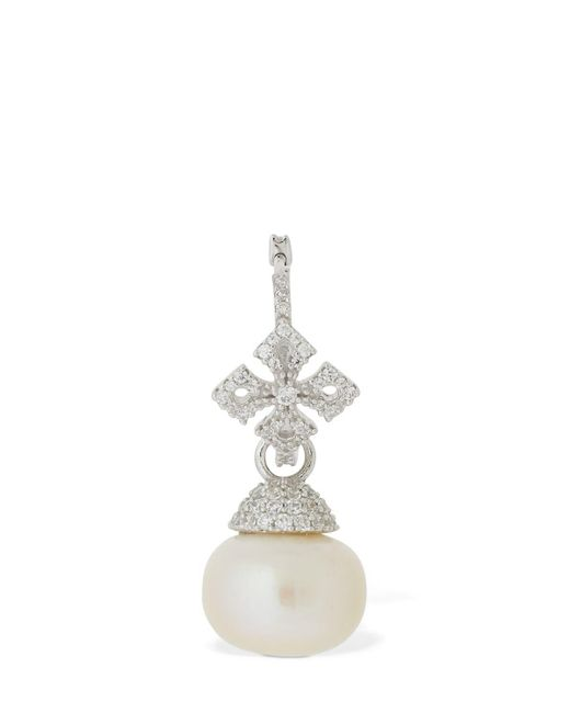 Apm Monaco Cross シングルピアス White