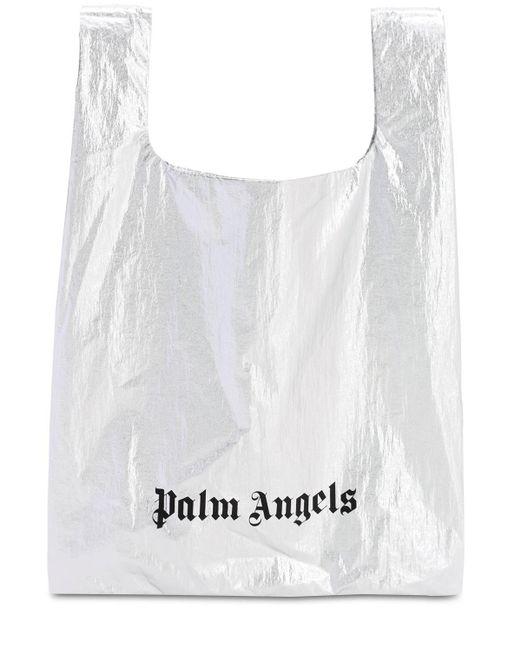 Palm Angels メタリックナイロントートバッグ Metallic