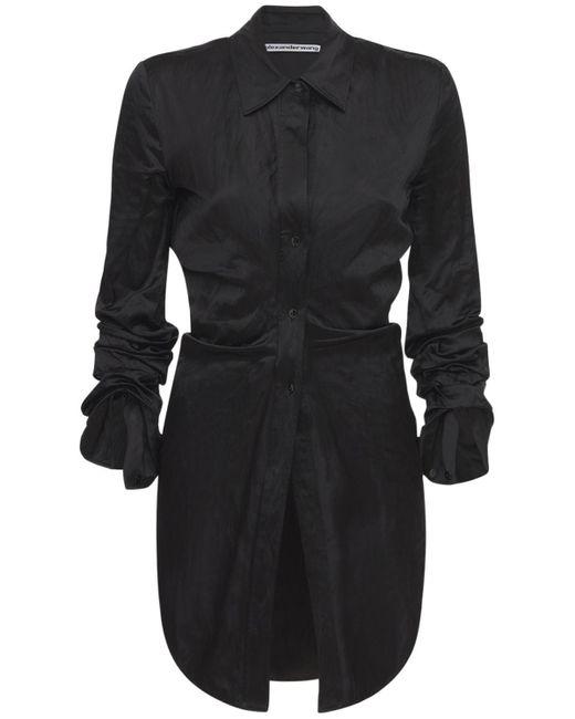 Alexander Wang Memory サテンロングシャツ Black
