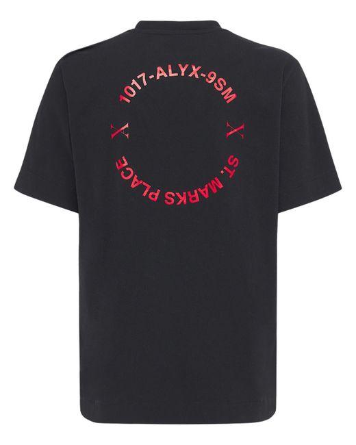 メンズ 1017 ALYX 9SM Address コットンジャージーtシャツ Black