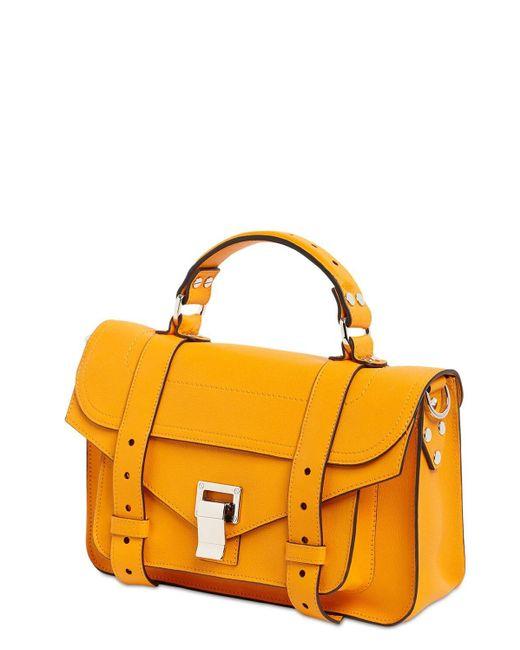 "Кожаная Сумка ""ps1 Tiny Lux"" Proenza Schouler, цвет: Yellow"