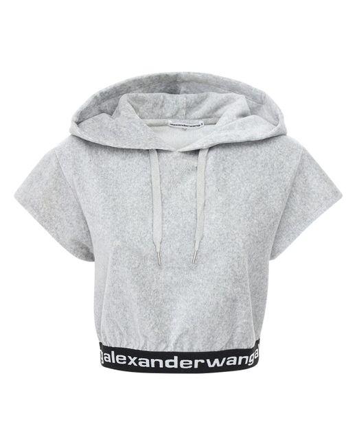 Alexander Wang ストレッチコーデュロイクロップトップ Gray