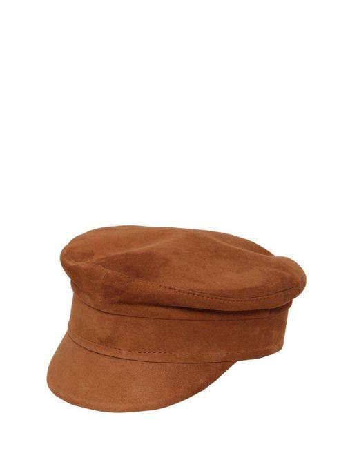 Ruslan Baginskiy Baker Boy カーフスエード帽 Brown